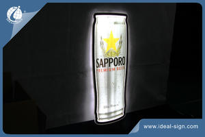 POSM beer slim light box illuminated wall mounted signs Can Shaped Light Signs