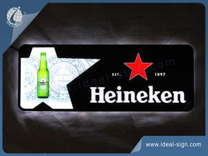 Heineken Regular Shaped Slim Light Sign