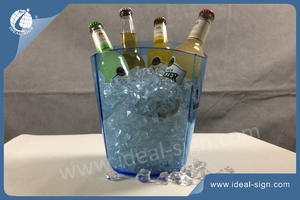 Big Size 3L Absolut ELYX Transparent Acylic LED Eiskübel Quadratisch