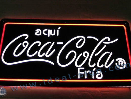 Custom indoor led signs boards Coca Cola led indoor signs