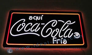 Coca cola Indoor Led Neon Signs illuminazione all'ingrosso
