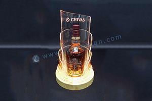 Chivas LED licor garrafa acrílico Display com Base de madeira
