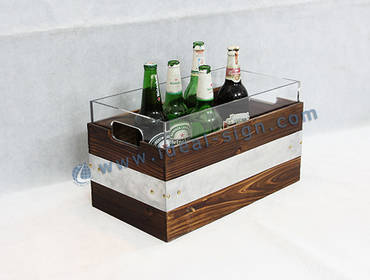 China Manufacture Of Liquor Bottle Display Ice Bucket