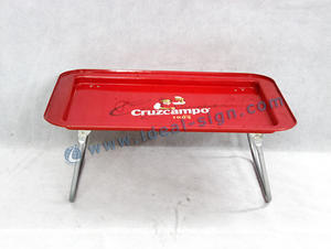 Wholesale custom Cruzcampo serving tray with stand China supplier