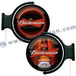 Budweiser Illuminated Rotating Pub Signs Wall Mounted Beer Signs
