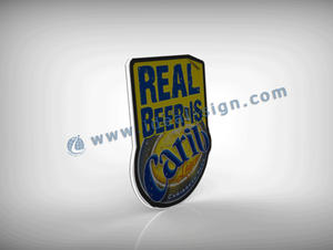 Custom flash thin light box slim led beer light box for wholesale
