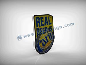 Cerveja Marca LED magros Sinais claros para Resultados