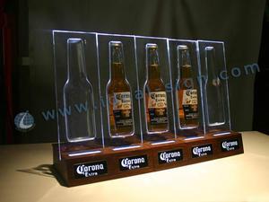 Bottiglia di corona LED acrilico scaffali per promuovere il marchio