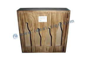 China handmade hollowed-out wooded wine packing boxes wooden wine box manufacturer