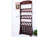Personalizzato MDF di legno di pino Wine Rack per display 42 bottiglie Tenendo