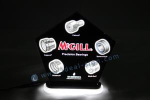 interior Edge LED iluminado sinal / lasering levou sinal de acrílico