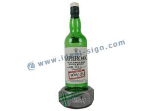 Esposizione della bottiglia del liquore acrilico LED vino forma unica