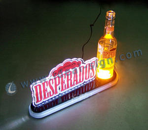 Wholesale custom illuminated beer bottle display lighted liquor glorifier China supplier