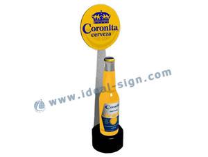 Supermercato acrilico Glowing bottiglia del liquore di visualizzazione