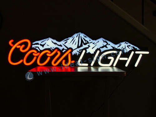 Custom coors light neon bar signs wholesale personalized beer signs coors light custom made neon signs led fake neon sign aloadofball Images