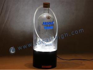 Cilíndrica LED Acrílico Garrafa de exibição usado em bar / pub
