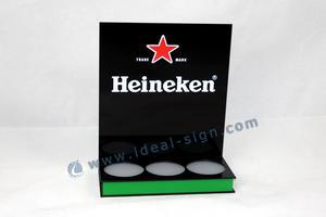 Display de garrafa Heineken cerveja LED para publicidade ou exibindo
