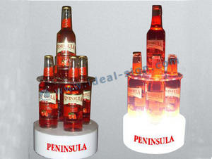 Penisola Bar Ripiani LED liquore acrilico Bottle Holder