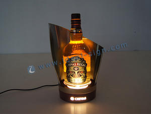 Acier inoxydable LED Liquor Bottle Display