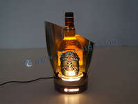CHIVAS acier inoxydable LED Lighted Liquor Bottle Display
