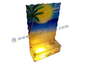 Atacado Hawaii Estilo Acrílico LED Light Up Garrafa de exibição
