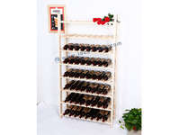 64 Bottle Wooden Wine Shelf MDF for Big Storage 79 * 28 * 153CM