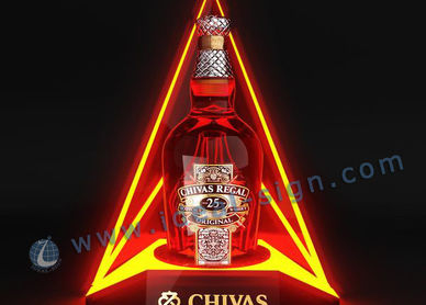 LED Bottle Glorifier Double Triangle Shape 200 * 180 * 280MM for Product Displaying
