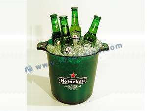China wholesale 3L plastic champagne coolers acrylic beer ice buckets