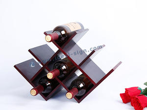 Wholesale personalized small pine wood wine rack for 8 bottles storage