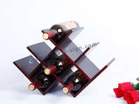 Tabletop Pine Wooden wine Rack with W Shape 8 Bottle holed 42*17.5*29CM