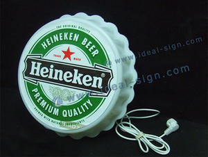 Wholesale custom beer cap shape signs wall-mounted bar display and decoration