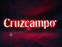 Cruzcampo Indoor LED Resin words / led light sign