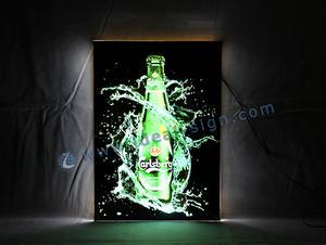 Il cristallo ha condotto Slim LED Segno Per Bar bordo della decorazione