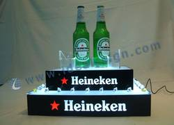 Heineken LED Beer bottle rack for displaying and promoting