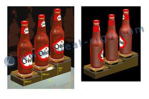 3 - bottiglia acrilico esposizione della bottiglia del liquore