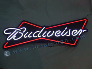 Painel Budweiser Beer Neon Signs Preto Acrílico