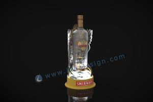 basamento della bottiglia acrilico SMIRNOFF LED