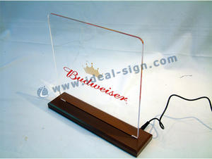 China wholesale beer edge lit display edged lit table signs
