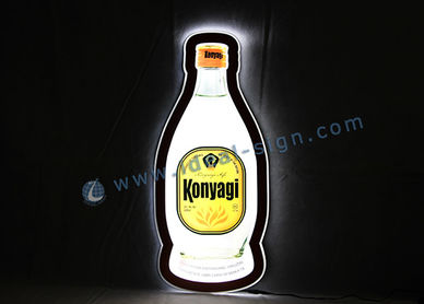 Botella de la forma ultra delgado LED de interior Letrero luminoso 60 * 27 * 1 CM