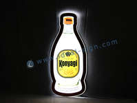 Flaschenform Ultra Slim Innen-LED Leuchtschild 60 * 27 * 1cm