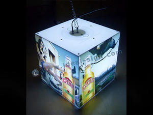 Acrílico interior Forma sinais LED Light Box Cube