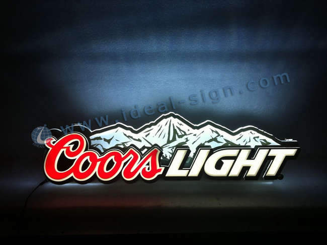 Wholesale custom bar signs for decoration indoor led lighted sign coors light light up wall signs made of acrylic led for beer promotion and brand advertising aloadofball Images