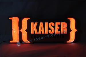 segno in acciaio inox a LED al coperto per la pubblicità