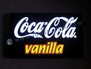 Wholesale indoor LED light signs custom Coca Cola lighted signs supplier