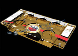 Acrylic And Aluminum Serving Tray of Amstel Brands for Beer and Drinks