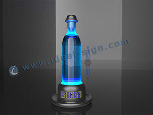 LED Liquor Glorifier Garrafa Hat Forma Broker