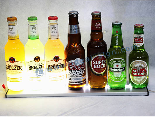 bar bottle display