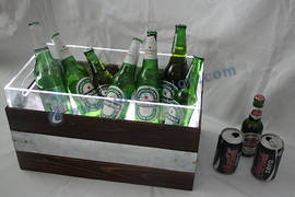 Latest Retro Style Double layer LED Ice Cooler
