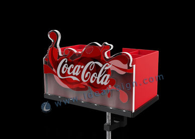 Abridor de botellas de Coca Cola con mejor visualización de la barra con caddy