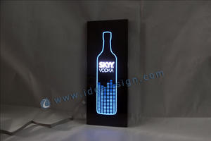China supplier of personalized flash lighted box display slim lighted liquor signs for wholesale